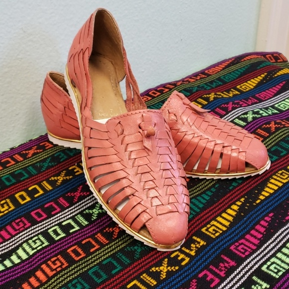 59d5a0a9f334 Mexican leather flats
